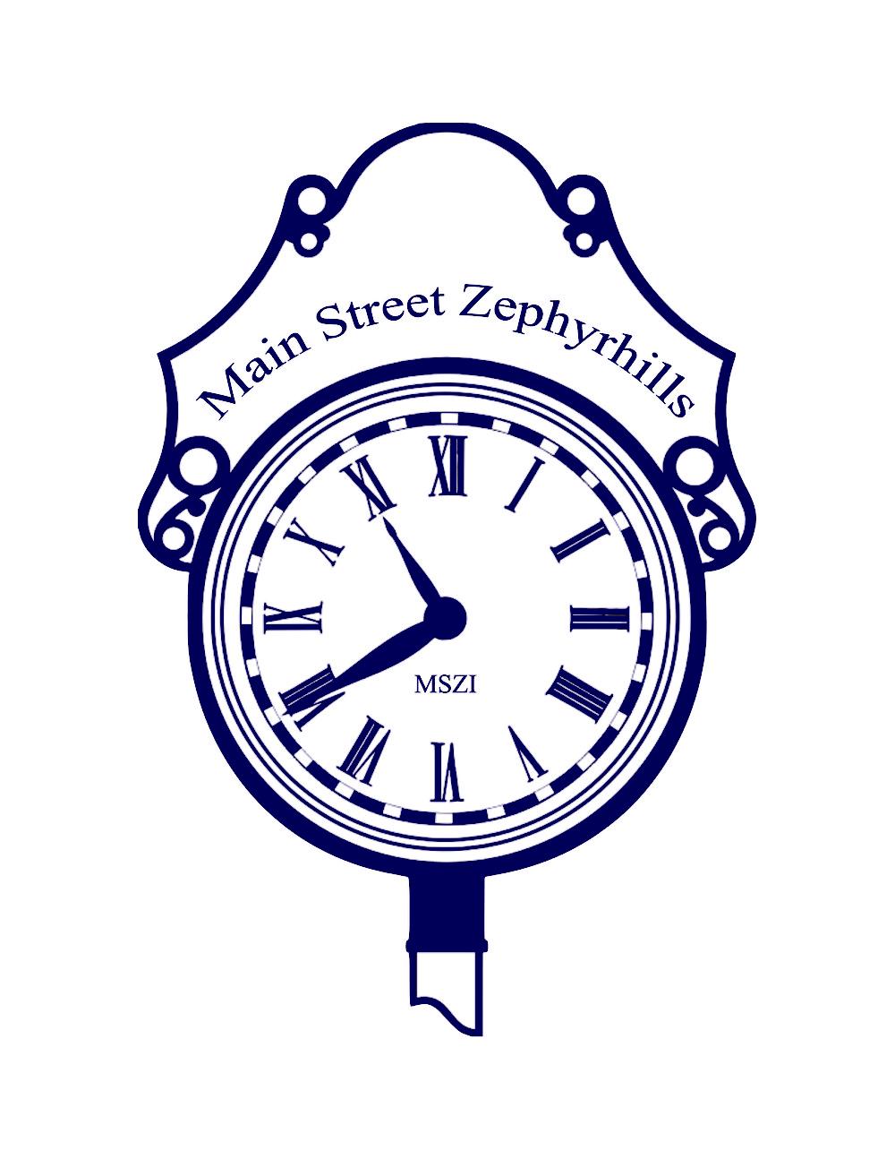 main street clock logo transparent background BLUE.PNG