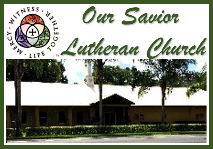 Our Savior Lutheran Church    Address: 5626 20th Street Zephyrhills,  Email: ochurch@tampabay.rr.com  Telephone: 813-782--1369   Website    Facebook