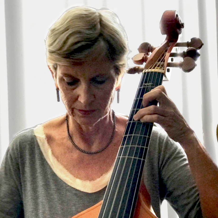 Marcy Brenner playing viol