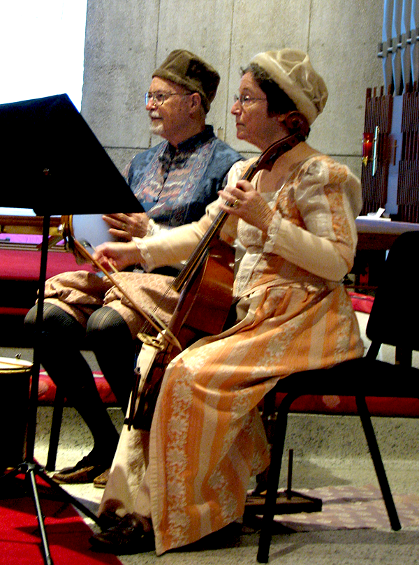 Pete and Pat DeWitt playing at St. Paul's by-the-Sea, February, 2016
