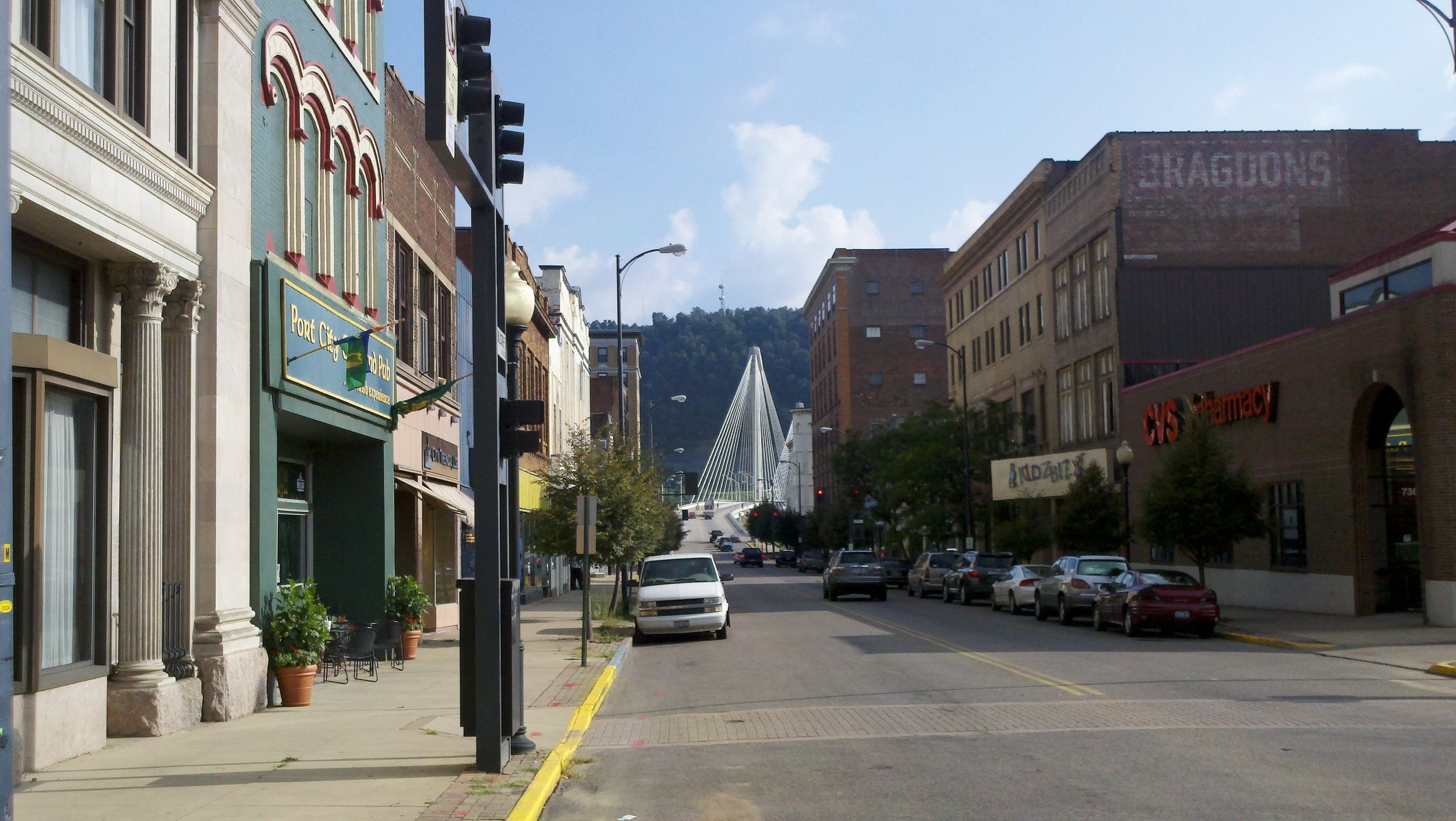 Portsmouth, OH is located at the confluence of the Ohio and Scioto Rivers in Scioto County