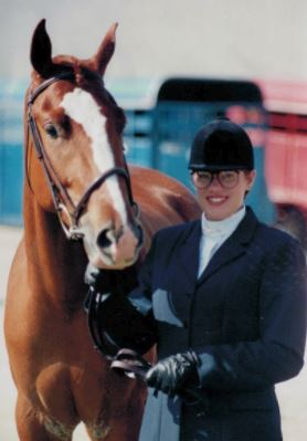 At 17, I showed a 3-year old appendix Quarter Horse (half Thoroughbred) named Copper Cat Can that we bred and raised. I was primarily responsible for training him, and we placed in the Top 10  in every class that year at state.  It was his second show ever.