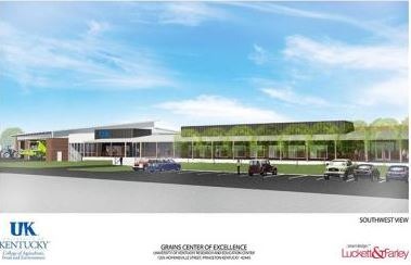 A rendering of the Grains Center of Excellence at the UK Research and Education Center in Princeton.