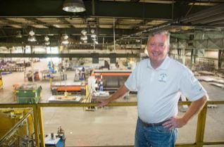 Randy Matthews and the Davert factory floor.