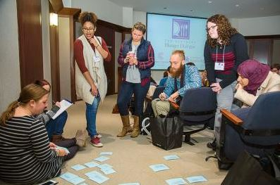 Dialogue participants educated themselves oncommon hunger terminology during one exercise.