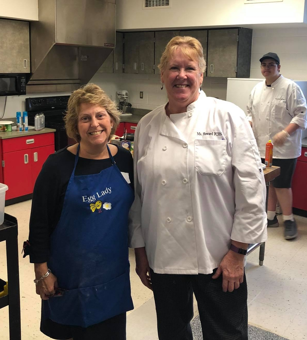 Cassinda with Fleming County High School culinary arts teacher Debbie Howard.