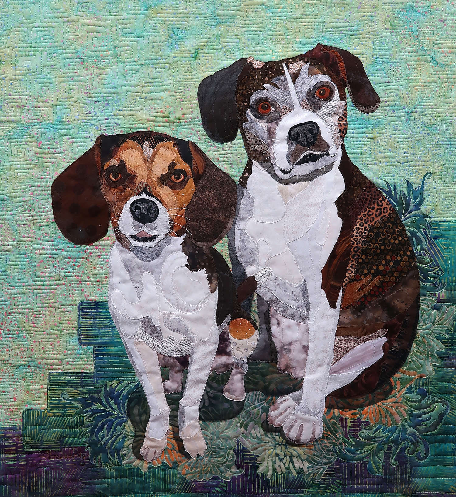 "Zac & Zoey - 24 "" x 26"" - Feb 2019Private Collection - Calgary, AB"