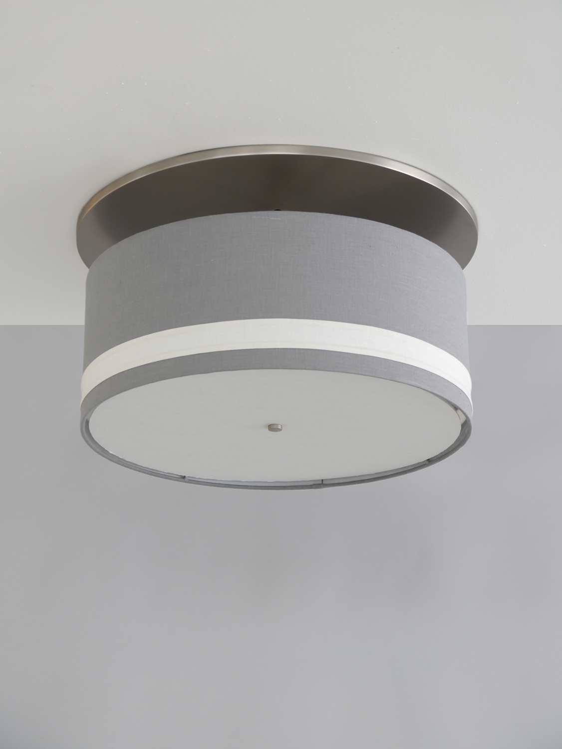Striped_C-103_Striped Drum Ceiling Fixture w_ Large Canopy_Satin Nickel_Gray and White.jpg