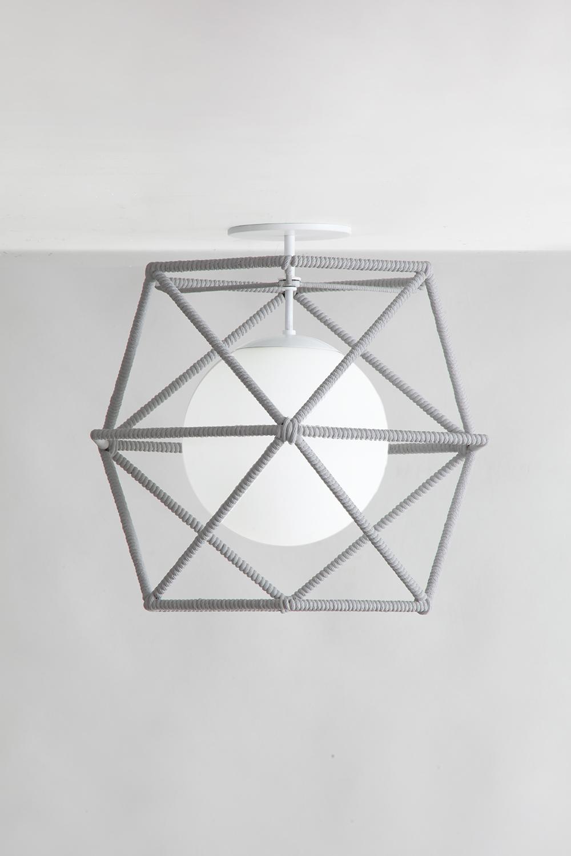 Rope_C-214_Hexagonal Cage Rope Ceiling Fixture_White_Grey.jpg