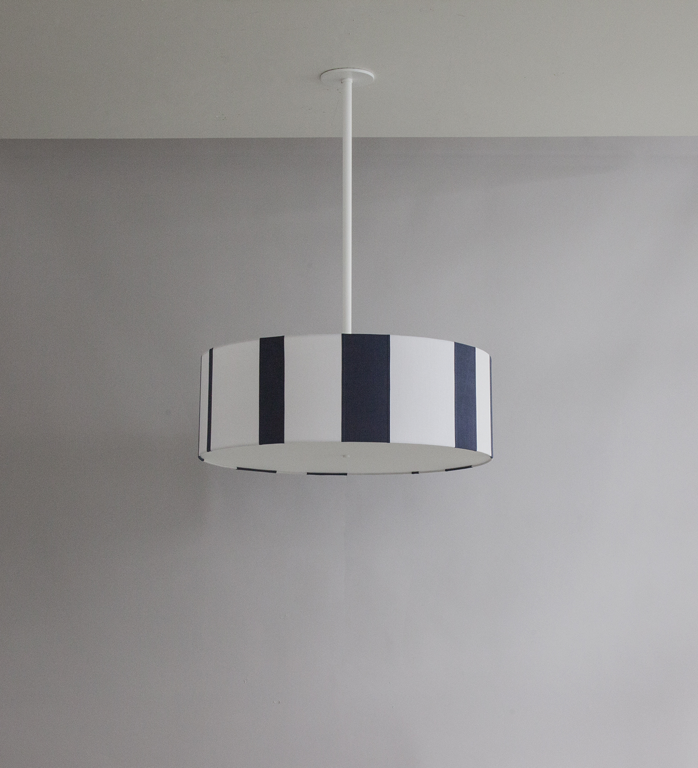 Striped_C-101_Vertical Striped Drum Pendant_White_ Blue and White_off.jpg