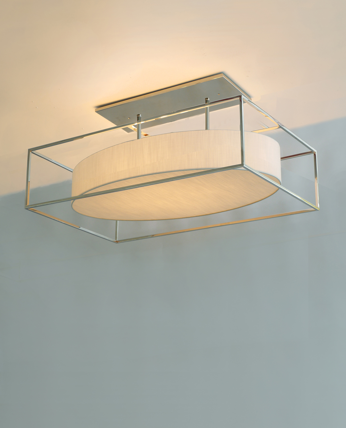 Boxed_C-208_Boxed Oval Ceiling Fixture with Two Stems_Polished Nickel_Ecru.jpg