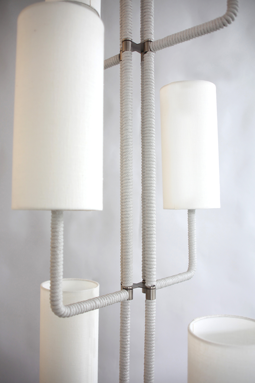 Rope_C-183_Vertical Rope Chandelier with 8 Shade_Satin Nickel_Gray_White_close up.jpg