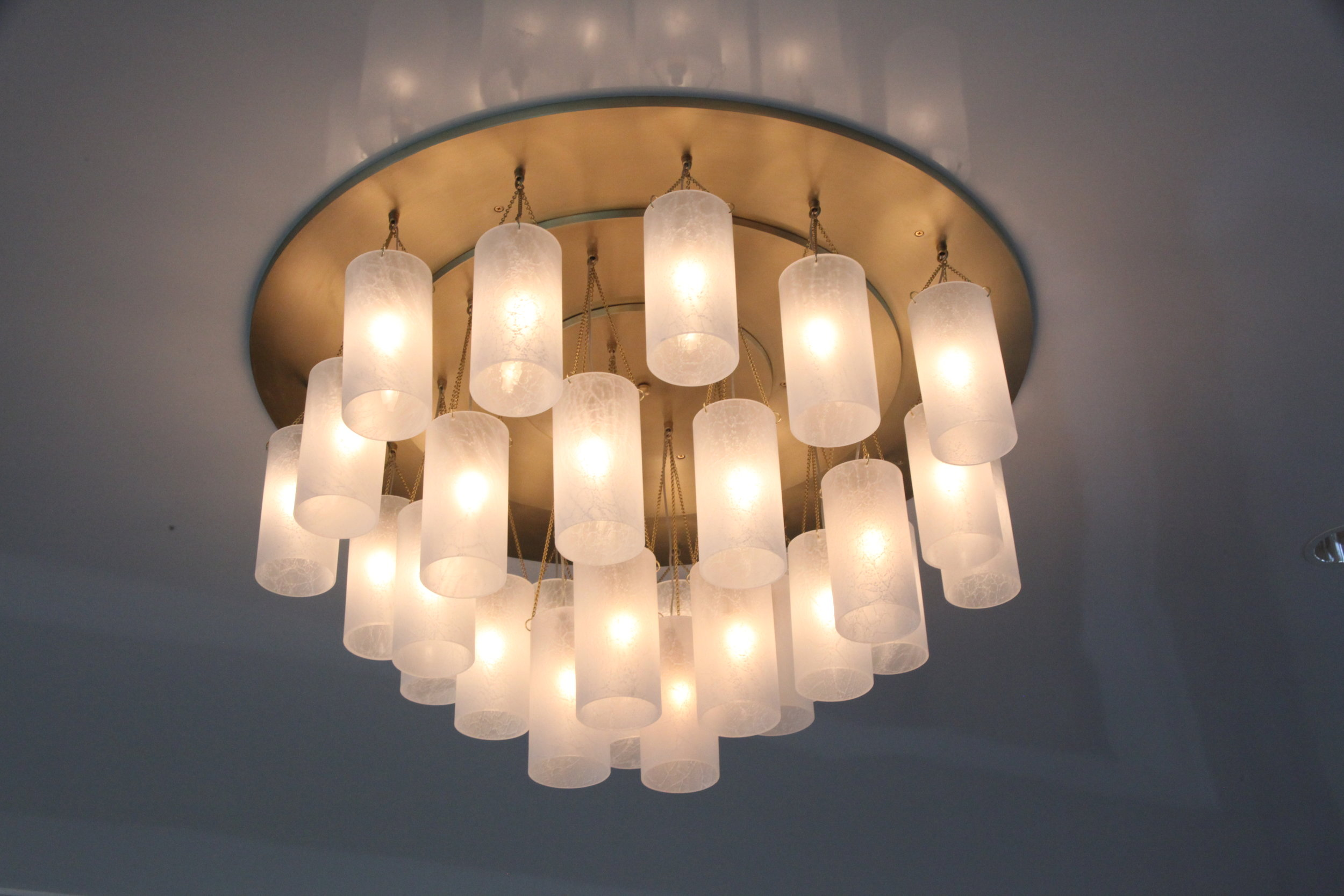 Glass + Crystal_C-171_Multi_Tiered Glass Shade Chandelier_Satin Brass_Glass.JPG