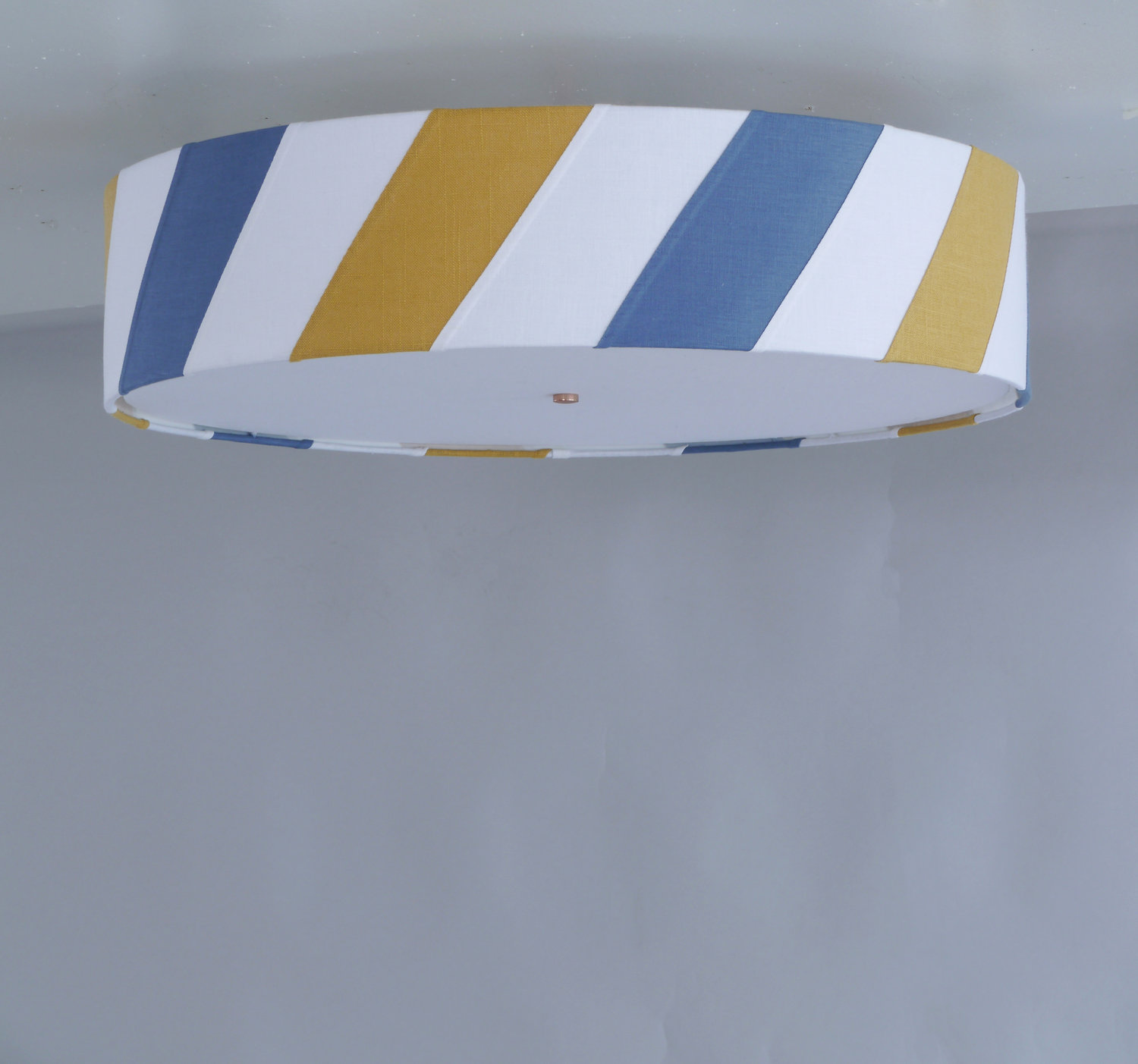 Striped_C-186_Diagonal+Striped+Ceiling+Fixture_Satin+Nickel_Blue,+Mustard+and+White.jpg