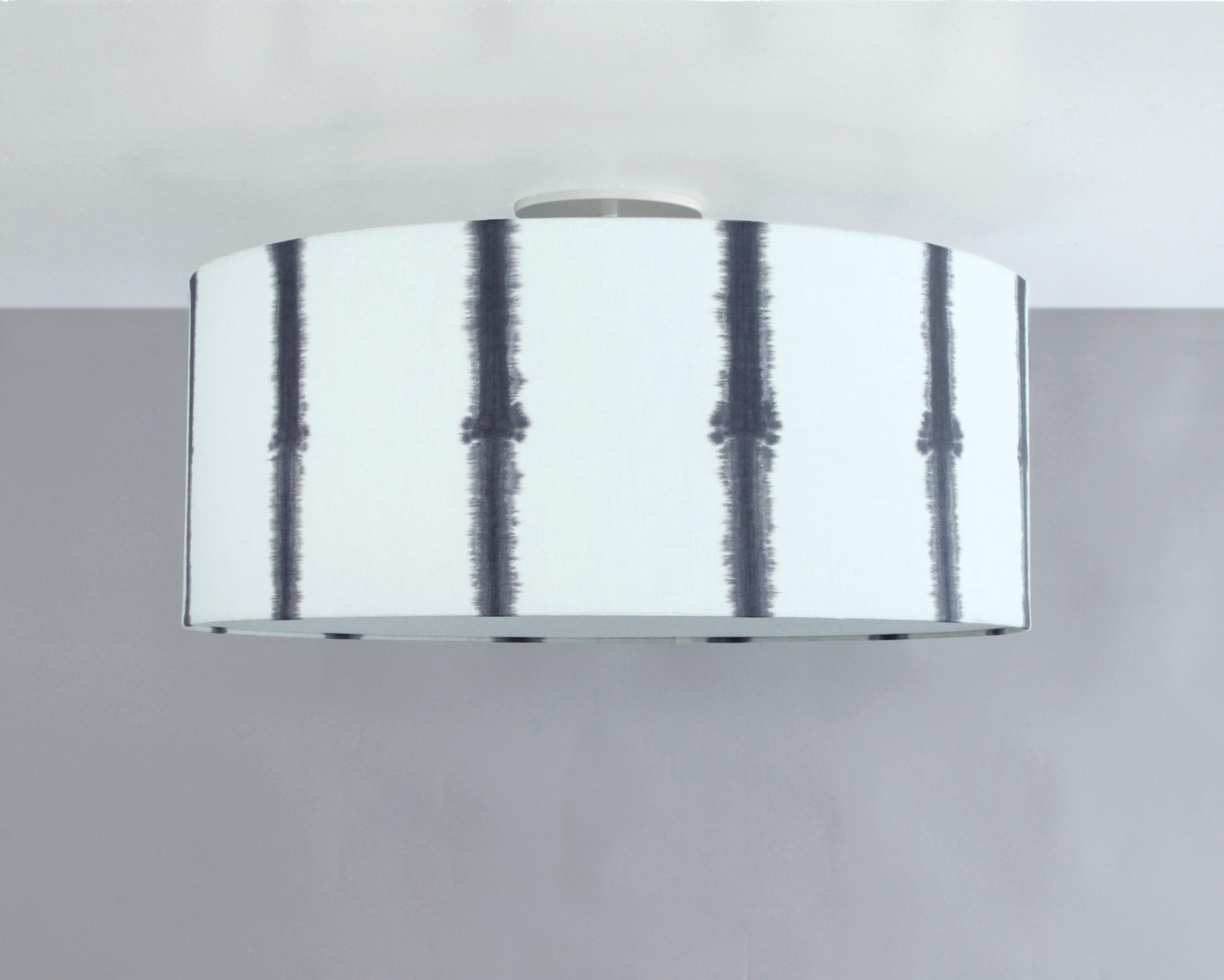 Bone Simple Design_Shibori Vertical Stripe Drum Ceiling Fixture_Black.jpg