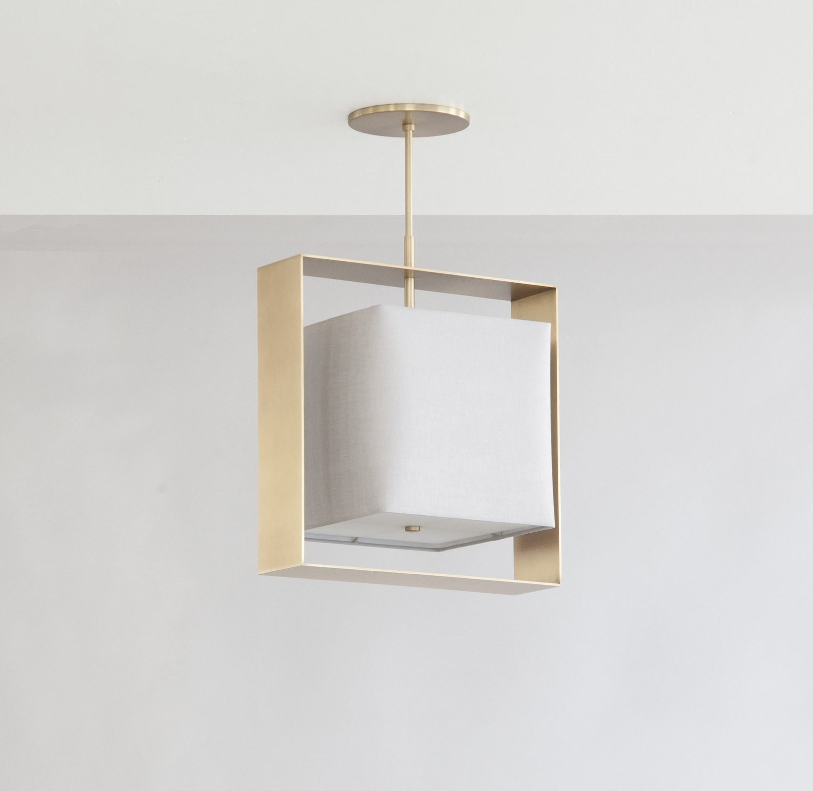C-145  Halo Box Pendant_Satin Brass_Linen2.jpg