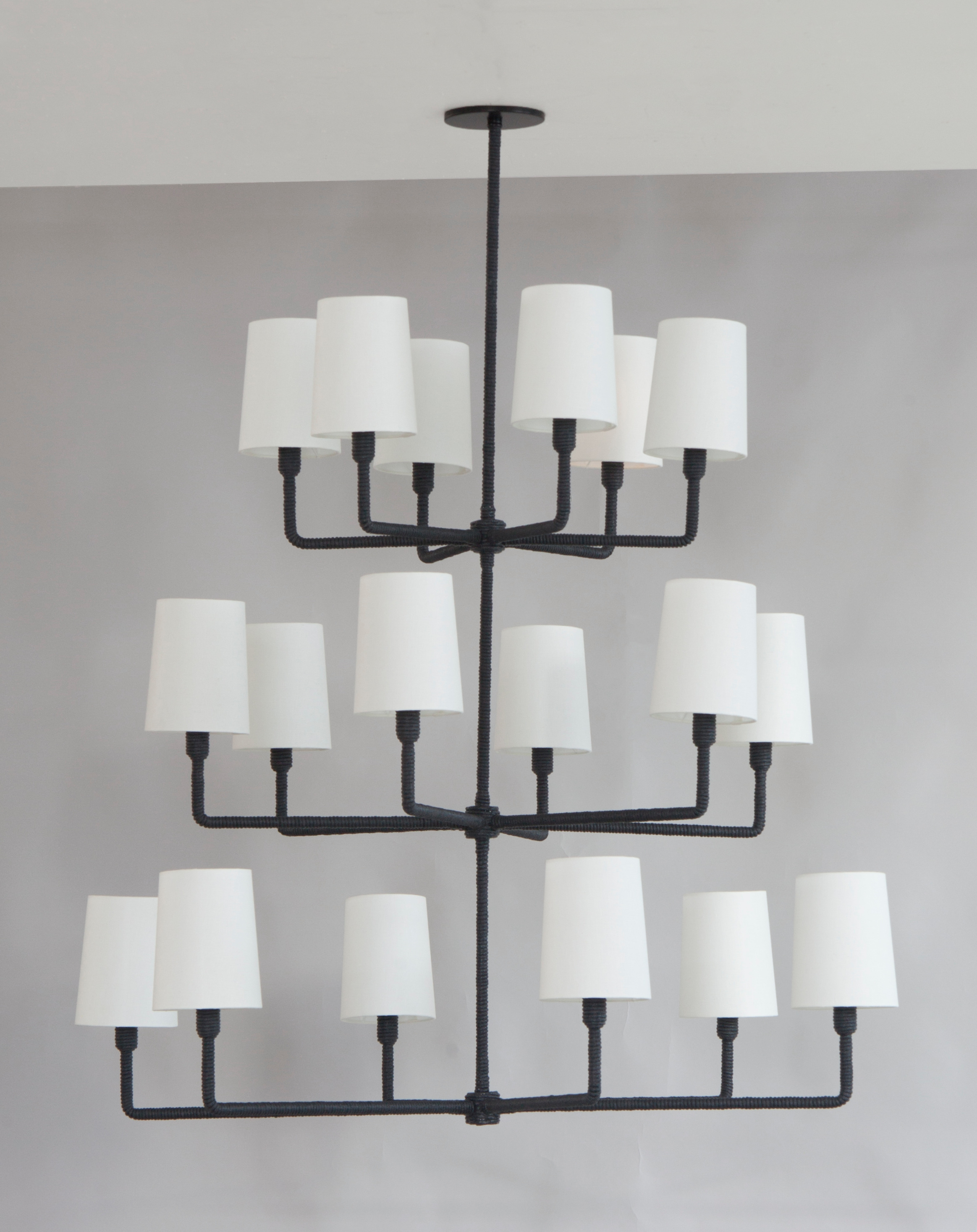 C-184+3-Tiered+Rope+Chandelier+-+Large+Shades+-+Black+Rope.jpg