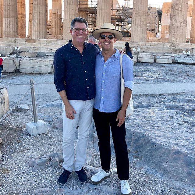 Extremely lucky and thankful to spend a very memorable birthday at the top of @theacropolis fulfilling a dream in seeing this masterpiece with the love of my life @steporr and our lovely friend @hilaryrobertson