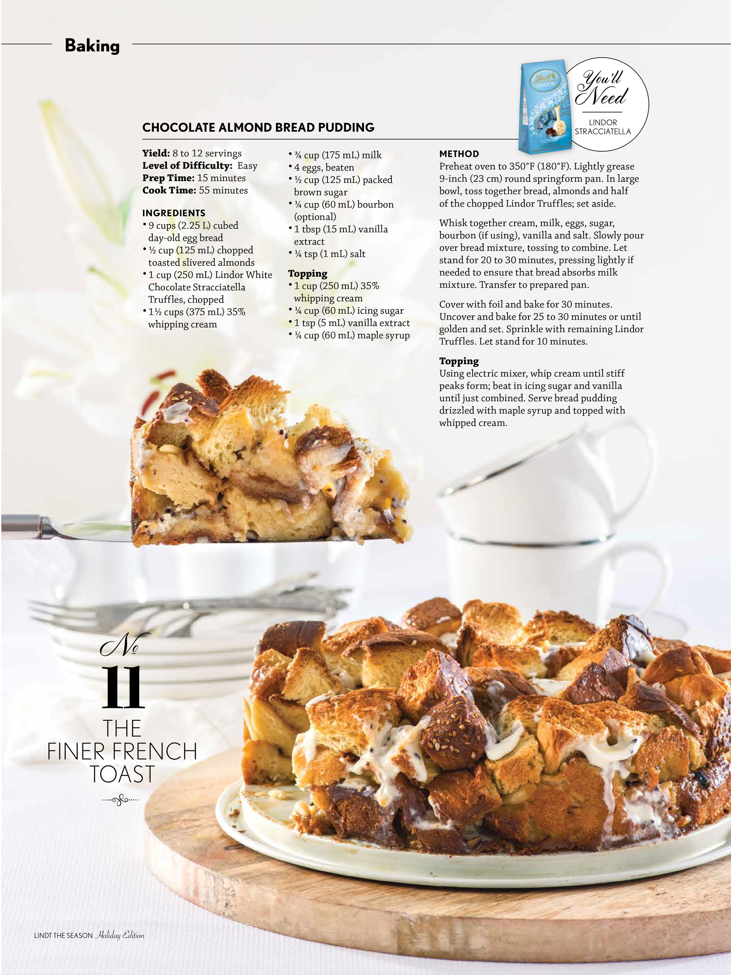 Lindt_The_Season_2016 Chocolate Almod Bread Pudding.jpg