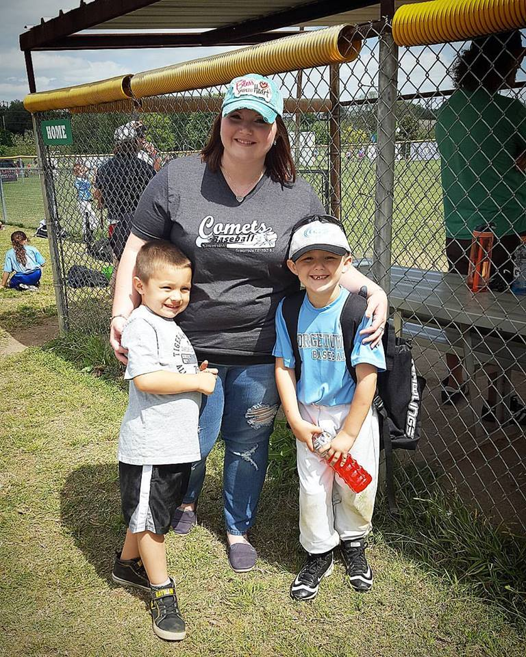 Comets mama with her little ballers