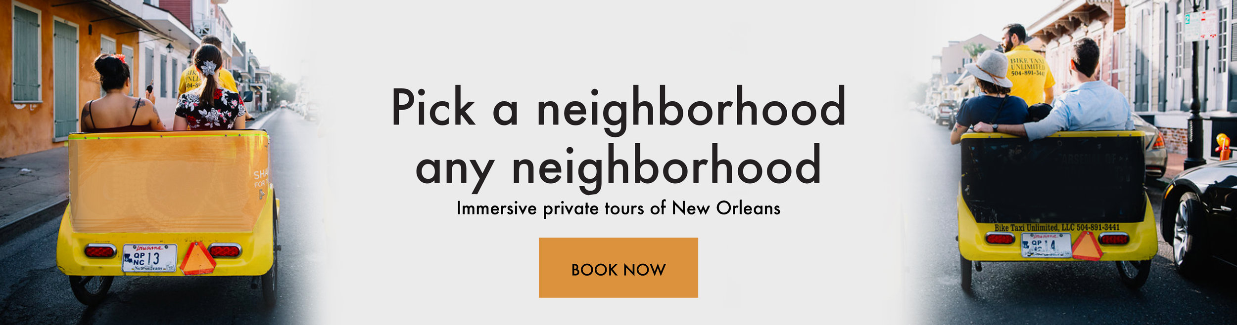 New Orleans Pedicab Tour Booking
