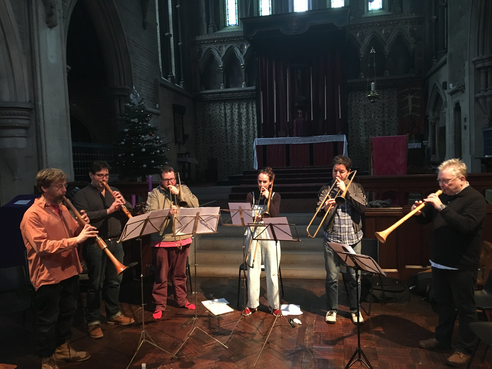 Rehearsing a piece for 'Heigh Ho Holiday' at Saint John's Smith Square