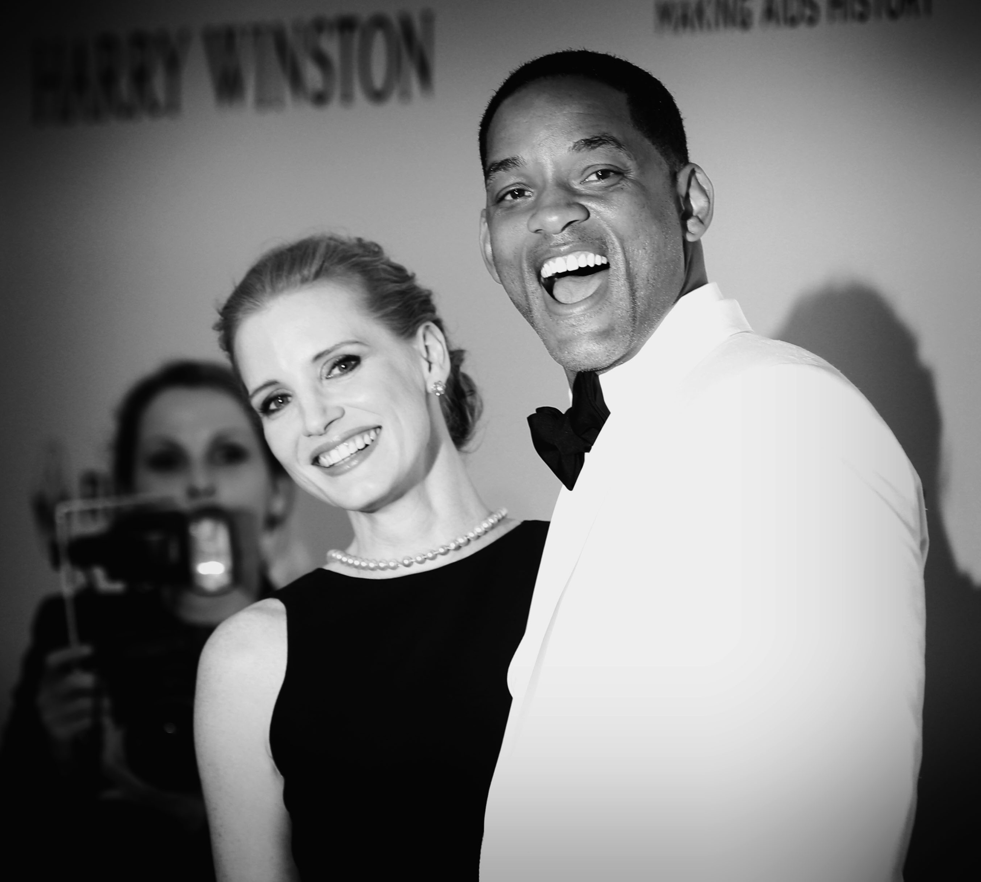 Jessica Chastain and Will Smith