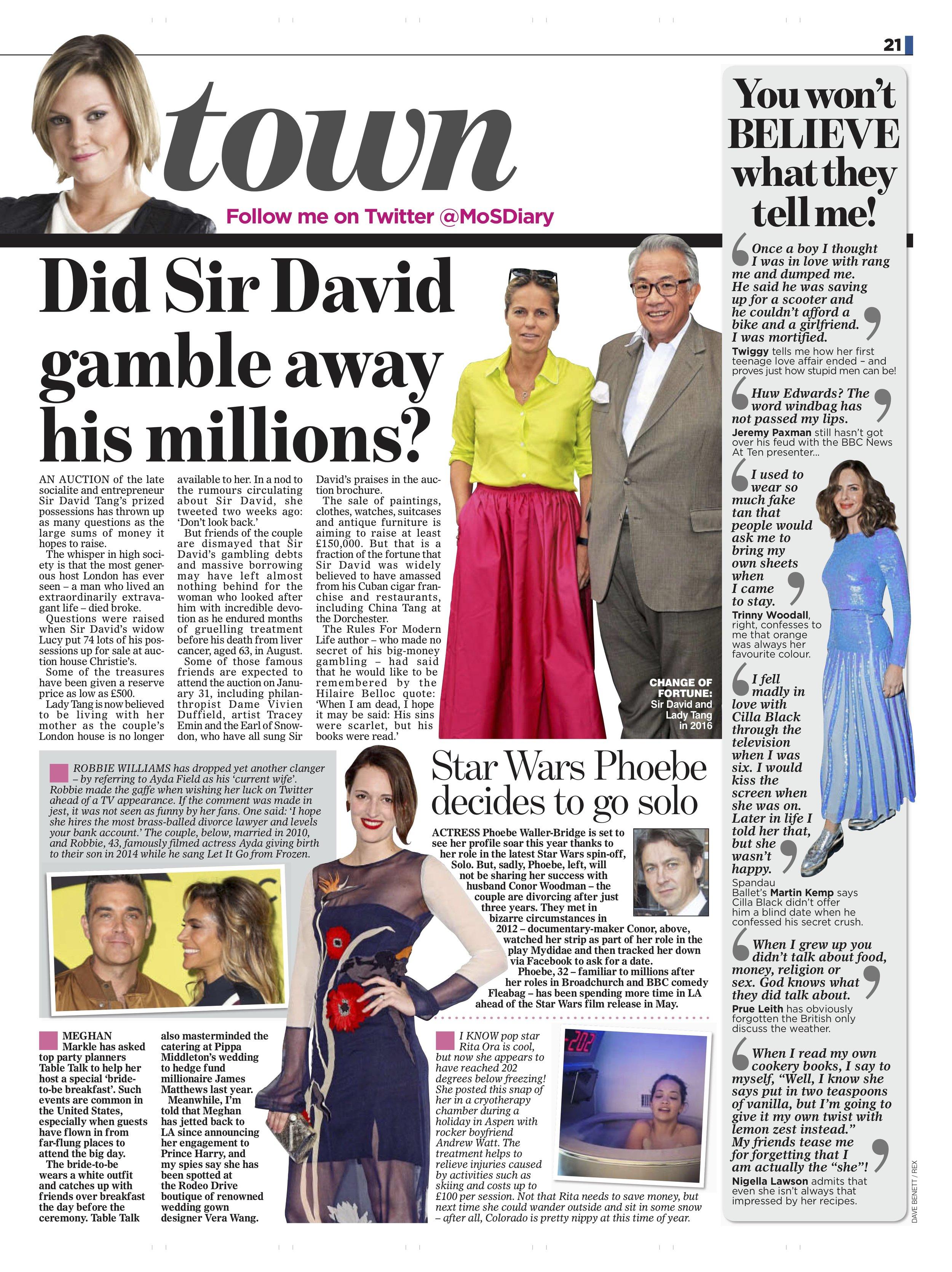 David Tang / Mail On Sunday