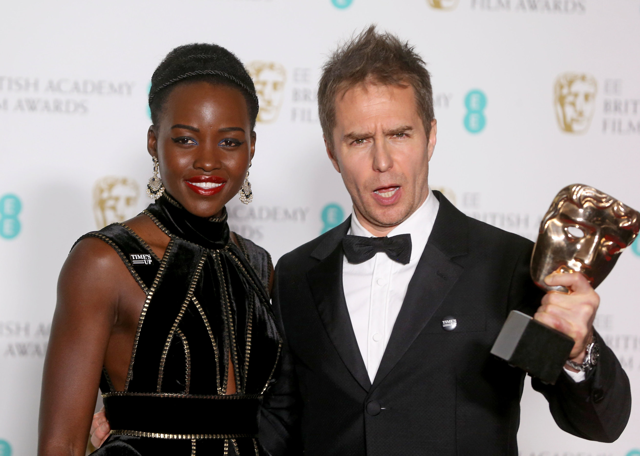 Lupita Nyong'o and Sam Rockwell