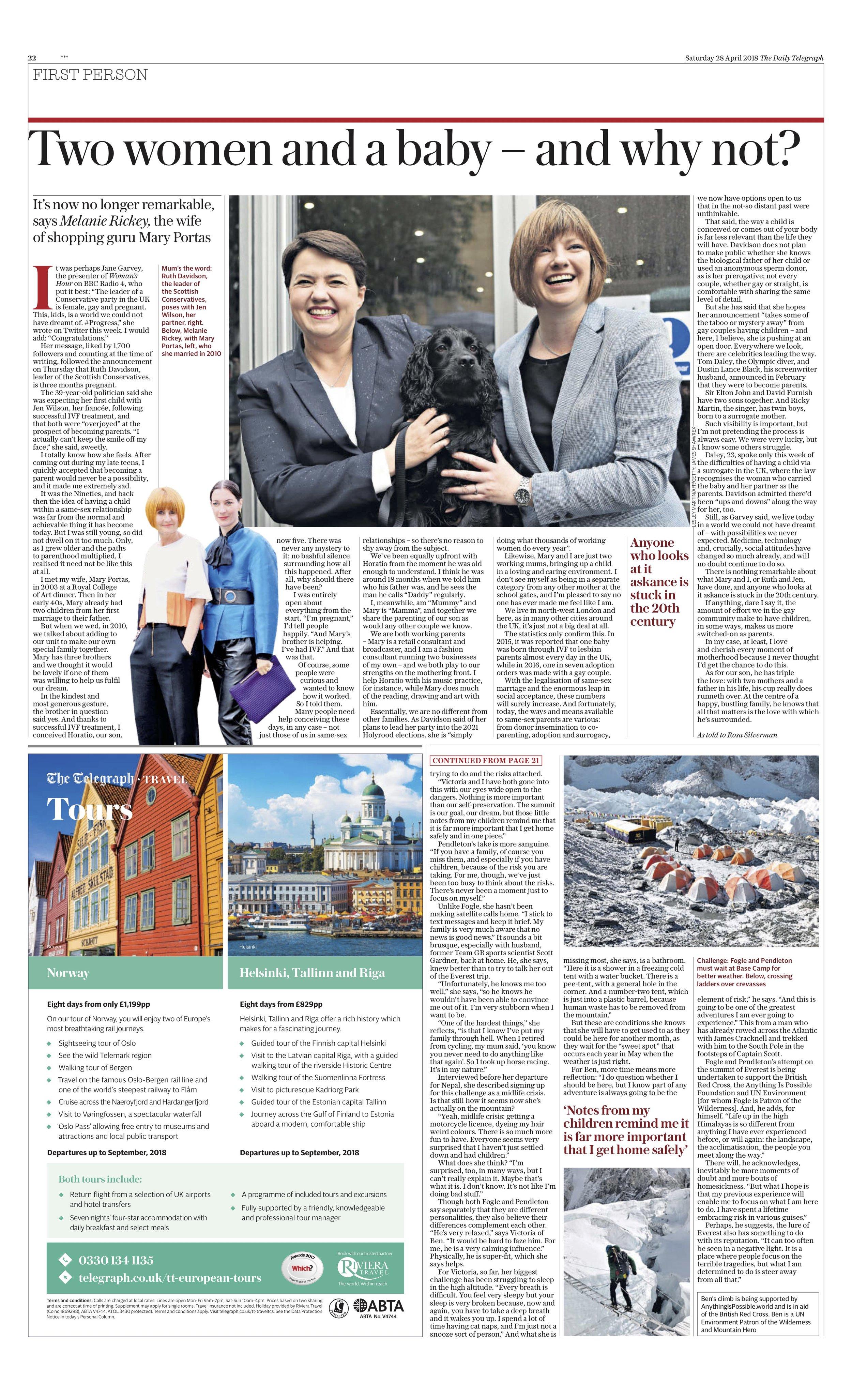 Mary Portas / Daily Telegraph
