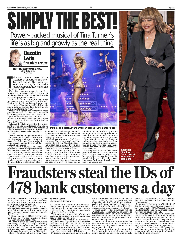 Tina Turner / Daily Mail