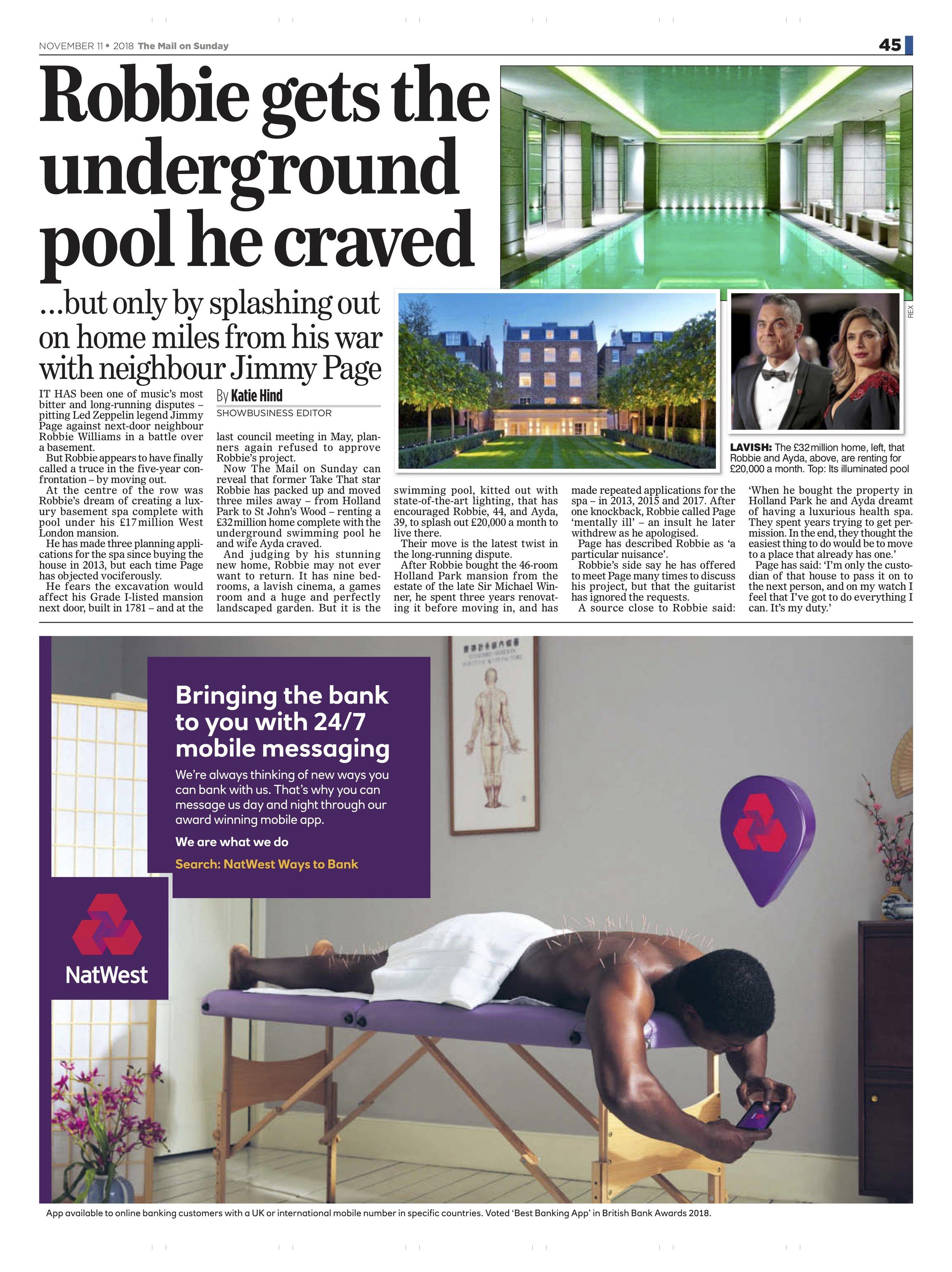 Robbie Williams / Mail on Sunday