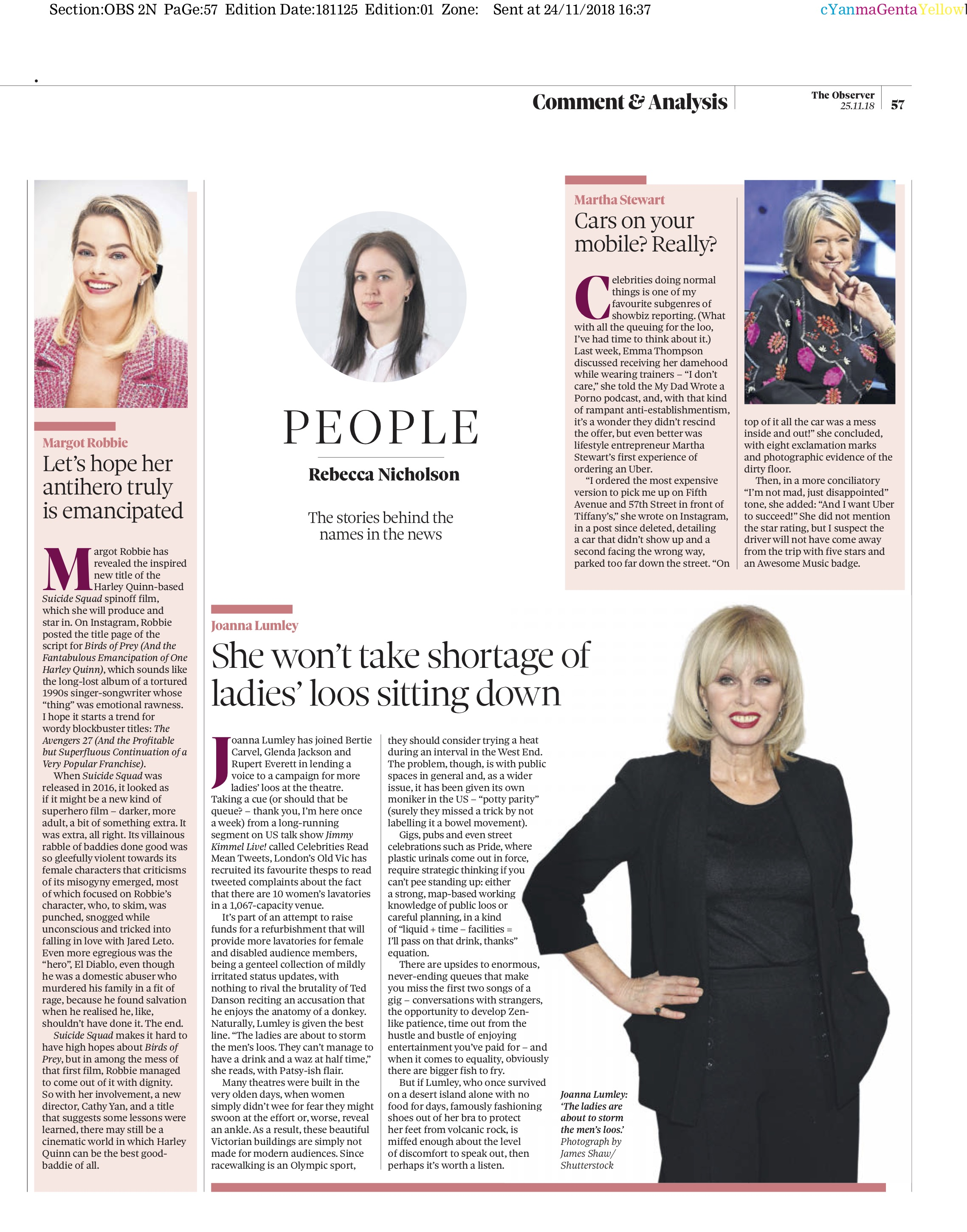 Joanna Lumley / The Observer
