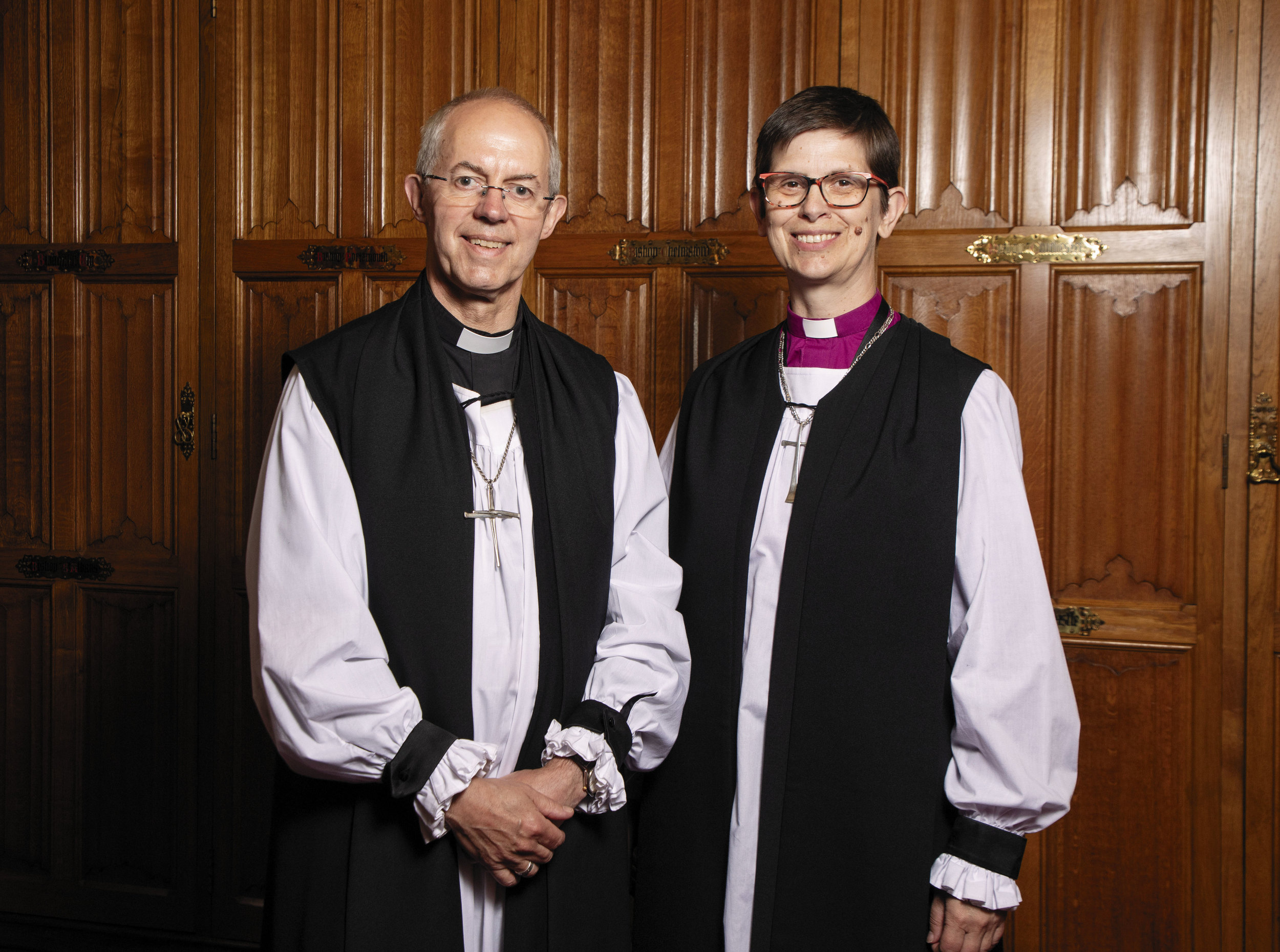 Justin Welby The Archbishop of Canterbury and Libby Lane, Bishop of Derby