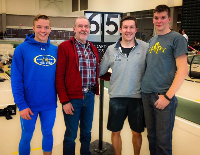 Brockport - Dad has always been our biggest fan. He continues to come to every meet. Thank you, Dad.