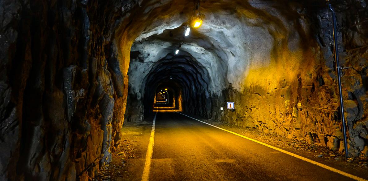 Inside the tunnel at Gasadalur.  JONAA©Mia Bennett