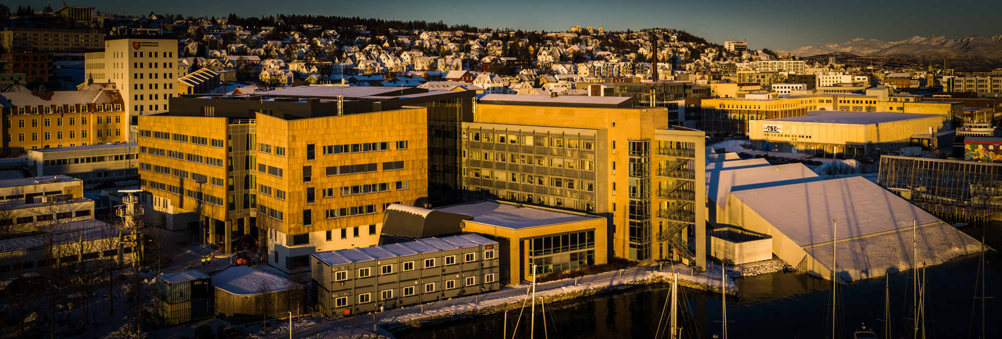 The expanded Fram Centre greatly amplifies research infrastructure in Tromsø, with workspaces for 530 people.      JONAA©Eirik Nicolai Heim/Crux Film