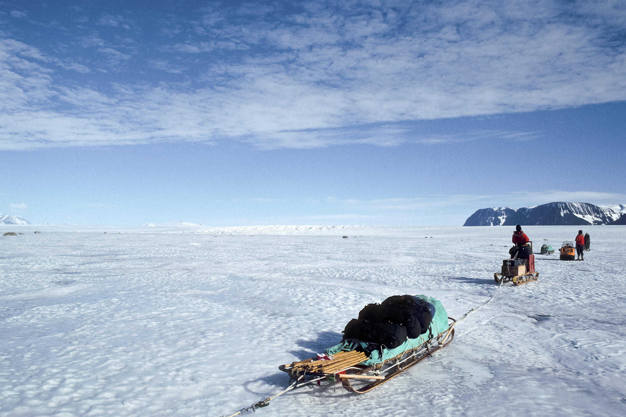 """Into unexplored territory in Northern Victoria Land, Antarctic. Photograph from """"Journey Into Climate"""" by ©Paul A. Mayewski and Michael C. Morrison, 2011."""