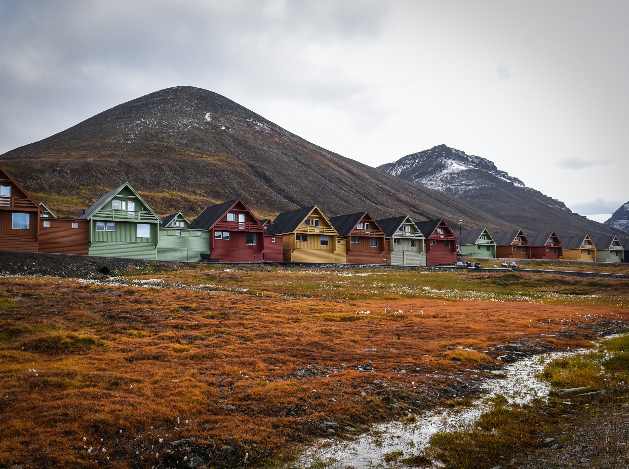 Longyearbyen, Svalbard. Home to a little over 2000 people and the world's northernmost settlement with more than 1000 permanent residents. JONAA@Linnea Nordstrom.