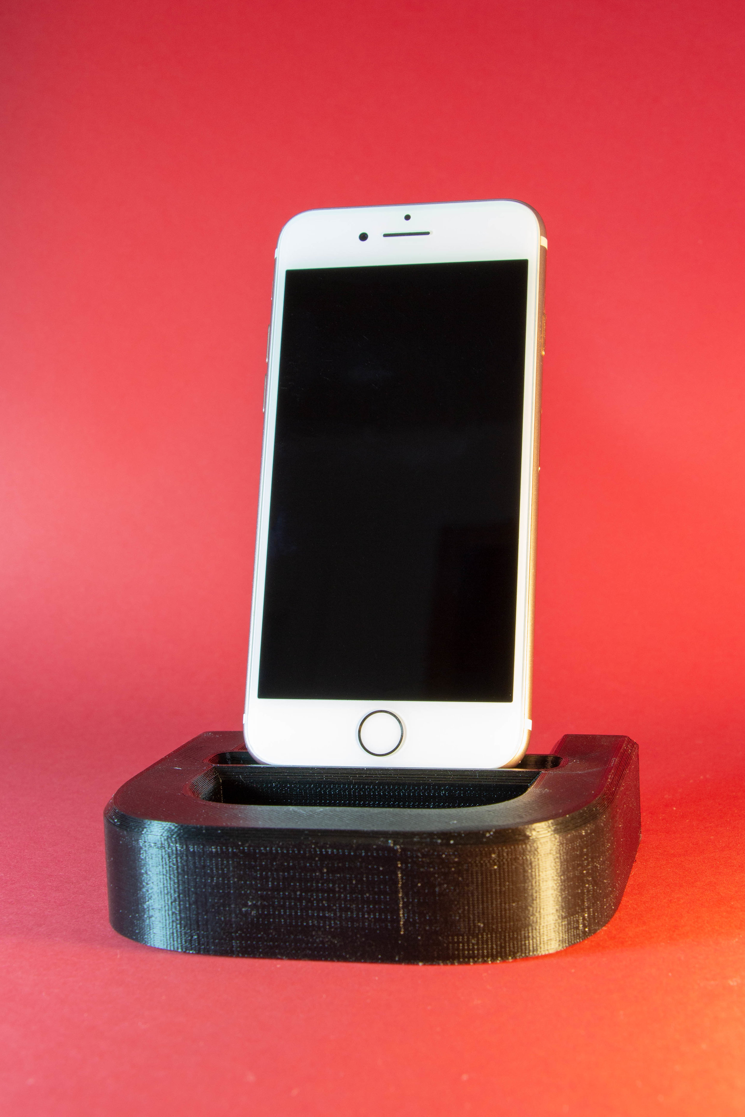 final product - The final product is a phone dock that is both functional and works with the companys brand guidlines.