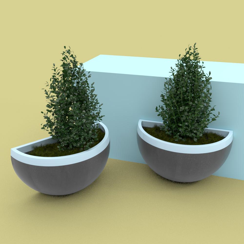 Planter made with concrete