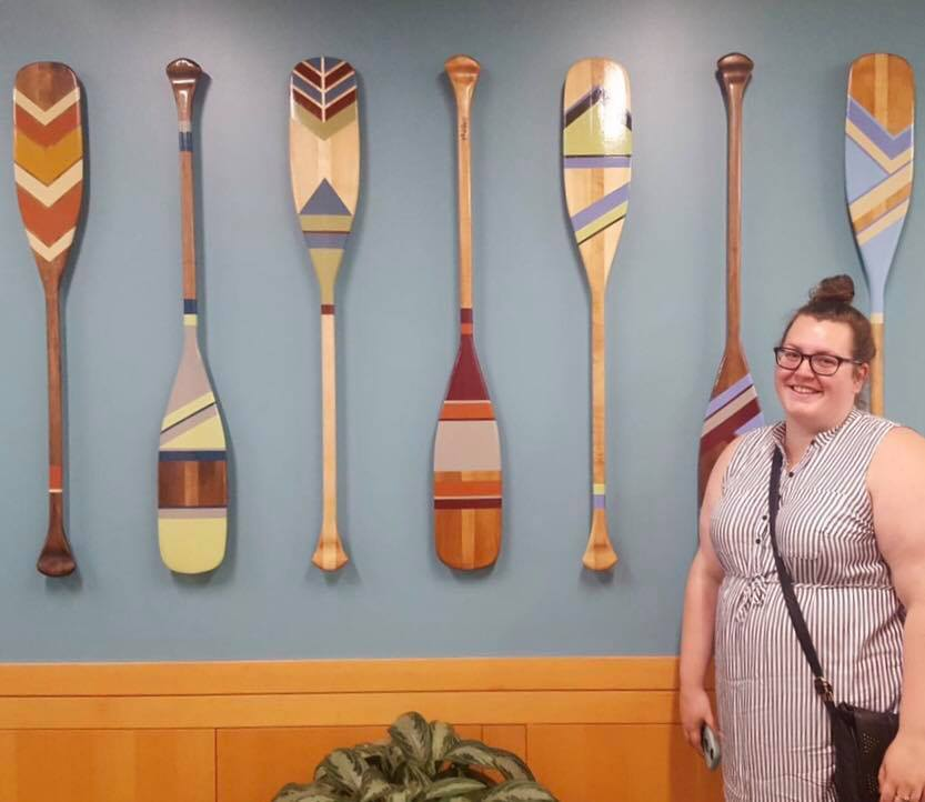 Cheesin' with the paddles. Portland, OR for Studio Art Direct