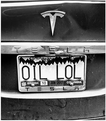 Tesla vs Oil via Jennifer McRae