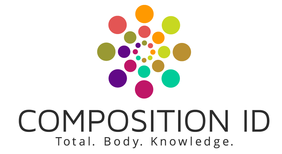 Composition ID - The Composition ID logo was created in conjunction with DuPont Studio for a fitness and nutrition company. The mark reflects the individuality that each body can have and how this means a personalized fitness and nutrition regimen for each client.