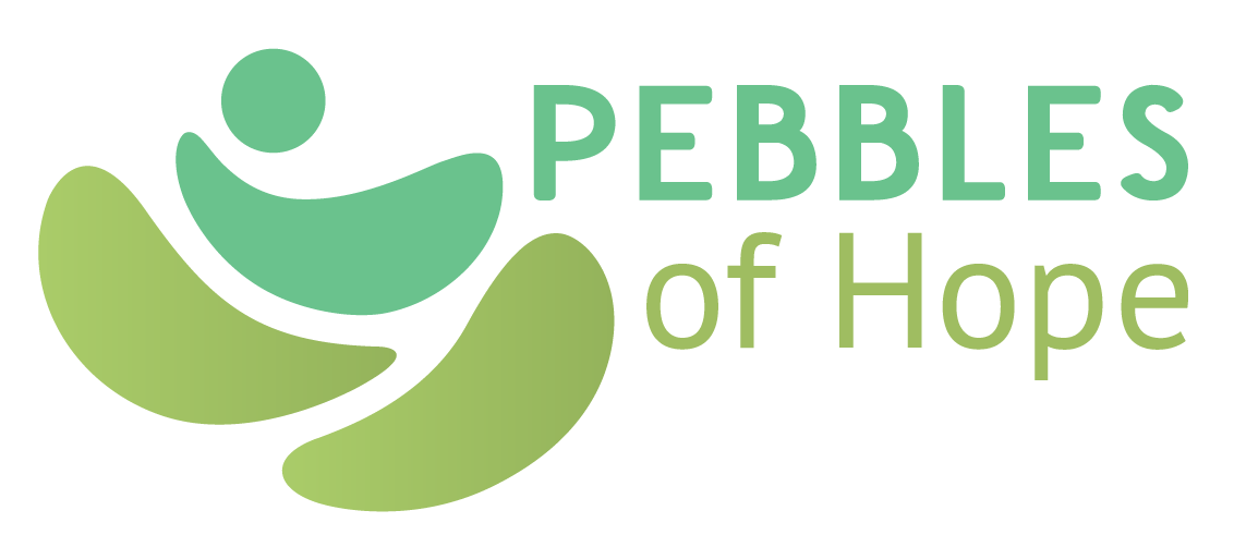 "Pebbles of Hope - Pebbles of Hope is a non-profit committed to helping premature babies around the world survive and thrive. In the process of their logo being created their initial designer had to focus on other matters. They needed help finalizing the logo, colors, and type. I worked on smoothing the ""pebbles' and making the baby in arms a bit more apparent. I worked with them to achieve a soft color palette and typeface to finish their brand."