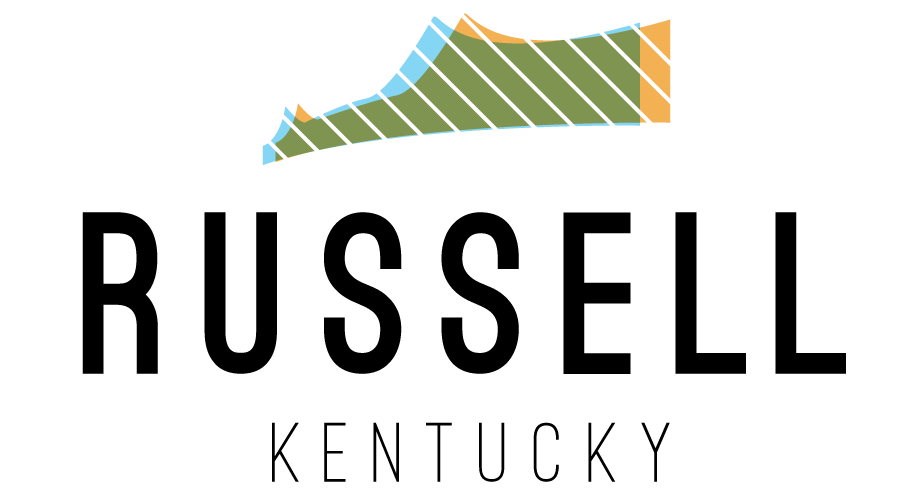 Russel Kentucky - This logo was created for a bid in helping the town of Russell, Kentucky rebrand their city. The mark mimics the shape of Kentucky state as well as Russell's main bridge.