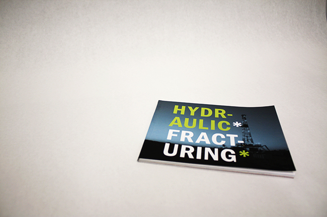 After graduating, I found out that a Hydro-Fracking company was set to Frack the shale in New York State near my former college and the NYC watershed. I learned about fracking in my senior year and hated the idea of the potential effects on the population and environment. I set out to research and create some informational books and a poster series to help people learn about all the negative effects and vote against the proposed fracking site.