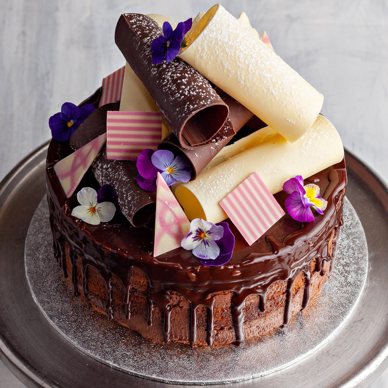 Chocolate Fudge/Mousse Cake with Drip Chocolate Finish