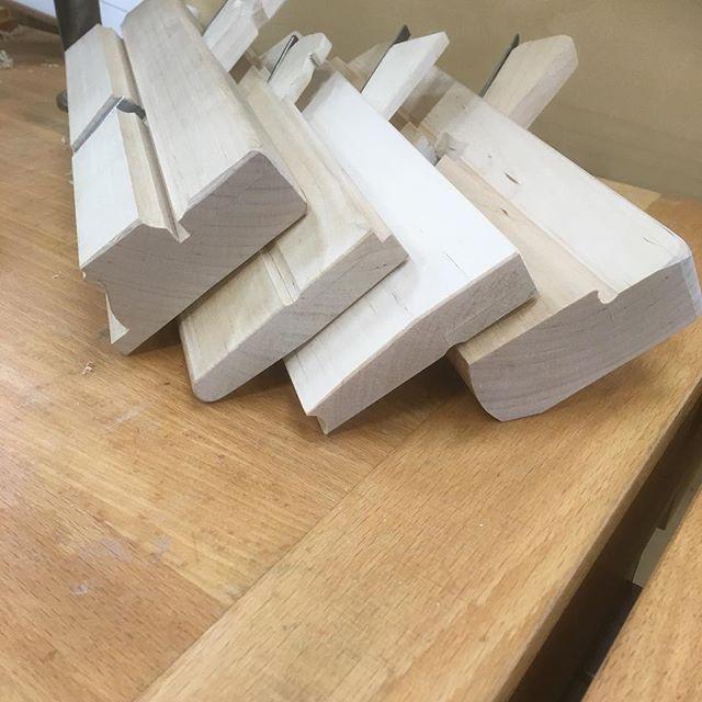 Det blev några flera hyvlat tillverkade under veckan. #jkfinsnickeri #träakademien