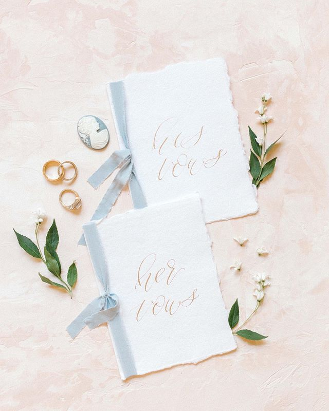 Pretty. Little. Details. That's what we are all about.  Photographer: @madeleinecollinsphoto  Planning: @storybookeventslv  Vow books: @gracefullymadeart